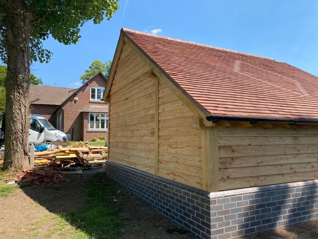 Tiled Wooden Garage